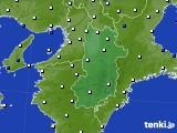 奈良県のアメダス実況(風向・風速)(2021年02月09日)