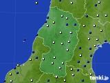 2021年02月09日の山形県のアメダス(風向・風速)