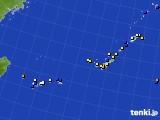2021年02月11日の沖縄地方のアメダス(風向・風速)