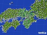 2021年02月11日の近畿地方のアメダス(風向・風速)