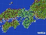 近畿地方のアメダス実況(日照時間)(2021年02月12日)