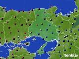 兵庫県のアメダス実況(日照時間)(2021年02月12日)