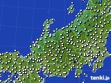 北陸地方のアメダス実況(気温)(2021年02月12日)