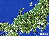 北陸地方のアメダス実況(風向・風速)(2021年02月12日)