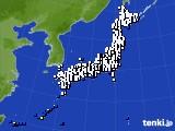 アメダス実況(風向・風速)(2021年02月12日)