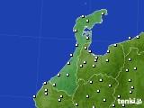 石川県のアメダス実況(風向・風速)(2021年02月12日)