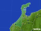 石川県のアメダス実況(積雪深)(2021年02月13日)