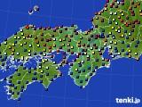 近畿地方のアメダス実況(日照時間)(2021年02月13日)
