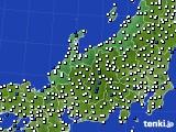 北陸地方のアメダス実況(風向・風速)(2021年02月13日)