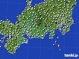 東海地方のアメダス実況(風向・風速)(2021年02月13日)