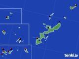 2021年02月14日の沖縄県のアメダス(日照時間)