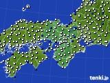 2021年02月14日の近畿地方のアメダス(風向・風速)