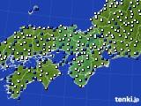 2021年02月15日の近畿地方のアメダス(風向・風速)