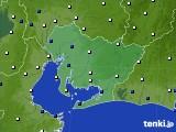 2021年02月15日の愛知県のアメダス(風向・風速)