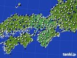 2021年02月16日の近畿地方のアメダス(風向・風速)