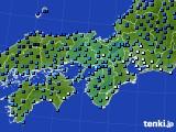 2021年02月17日の近畿地方のアメダス(気温)