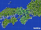 2021年02月17日の近畿地方のアメダス(風向・風速)