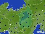 2021年02月17日の滋賀県のアメダス(風向・風速)