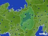 滋賀県のアメダス実況(気温)(2021年02月18日)