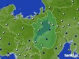 2021年02月18日の滋賀県のアメダス(風向・風速)