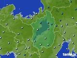 滋賀県のアメダス実況(気温)(2021年02月19日)