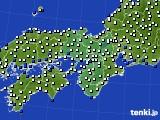 2021年02月19日の近畿地方のアメダス(風向・風速)