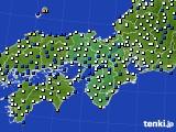 2021年02月20日の近畿地方のアメダス(風向・風速)