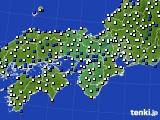 2021年02月21日の近畿地方のアメダス(風向・風速)