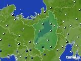 2021年02月21日の滋賀県のアメダス(風向・風速)