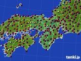 近畿地方のアメダス実況(日照時間)(2021年02月22日)