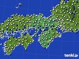 近畿地方のアメダス実況(風向・風速)(2021年02月22日)