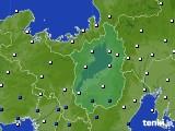 2021年02月22日の滋賀県のアメダス(風向・風速)