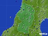 2021年02月22日の山形県のアメダス(風向・風速)