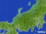 北陸地方のアメダス実況(降水量)(2021年02月23日)