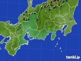 東海地方のアメダス実況(積雪深)(2021年02月23日)