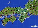 近畿地方のアメダス実況(日照時間)(2021年02月23日)
