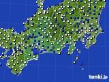 東海地方のアメダス実況(風向・風速)(2021年02月23日)