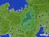 滋賀県のアメダス実況(風向・風速)(2021年02月23日)