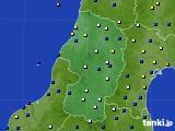 2021年02月23日の山形県のアメダス(風向・風速)