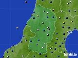 2021年02月24日の山形県のアメダス(風向・風速)