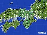 2021年02月25日の近畿地方のアメダス(気温)