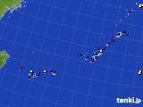 2021年02月25日の沖縄地方のアメダス(風向・風速)