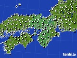 2021年02月25日の近畿地方のアメダス(風向・風速)