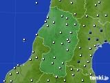 2021年02月25日の山形県のアメダス(風向・風速)