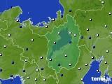 2021年02月27日の滋賀県のアメダス(風向・風速)