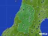 2021年02月27日の山形県のアメダス(風向・風速)