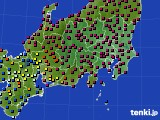 2021年02月28日の関東・甲信地方のアメダス(日照時間)