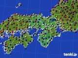 2021年02月28日の近畿地方のアメダス(日照時間)
