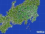 関東・甲信地方のアメダス実況(風向・風速)(2021年02月28日)