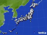 2021年02月28日のアメダス(風向・風速)